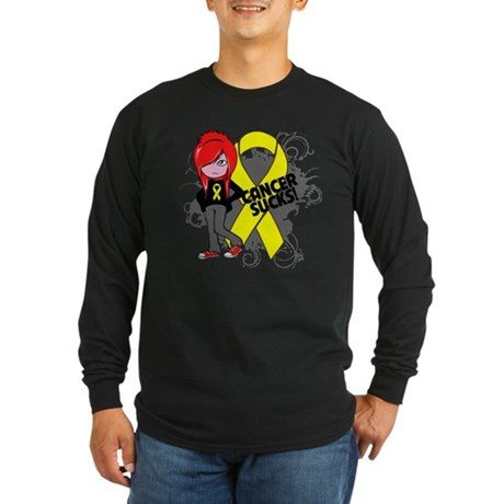 Ewing Sarcoma CANCER SUCKS Long Sleeve Dark T-Shir