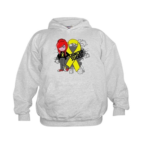 Ewing Sarcoma CANCER SUCKS Kids Hoodie