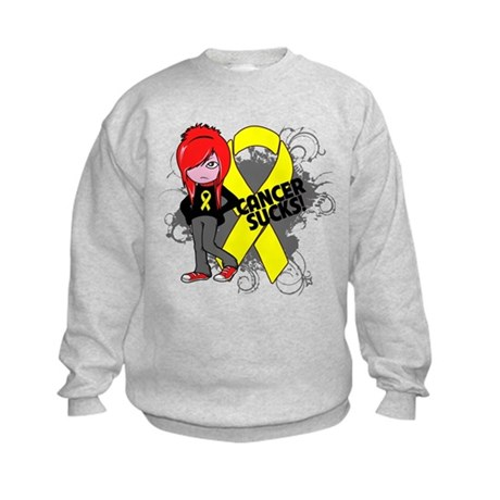 Ewing Sarcoma CANCER SUCKS Kids Sweatshirt