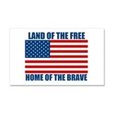 Home of the Brave Car Magnet 20 x 12