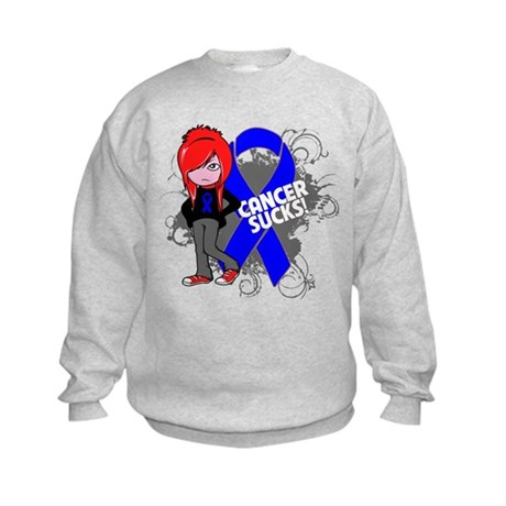 Colon CANCER SUCKS Kids Sweatshirt