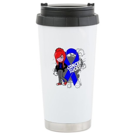 Colon CANCER SUCKS Ceramic Travel Mug