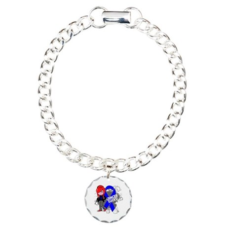 Colon CANCER SUCKS Charm Bracelet, One Charm