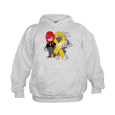 Childhood CANCER SUCKS Kids Hoodie