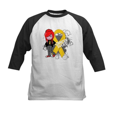 Childhood CANCER SUCKS Kids Baseball Jersey