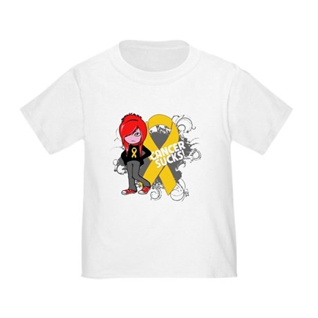 Childhood CANCER SUCKS Toddler T-Shirt