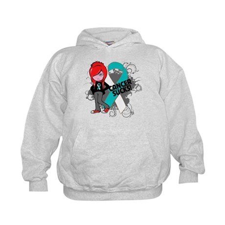 Cervical CANCER SUCKS Kids Hoodie