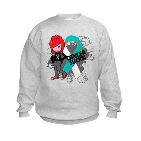 Cervical CANCER SUCKS Kids Sweatshirt