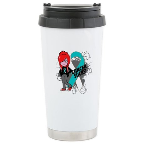 Cervical CANCER SUCKS Ceramic Travel Mug