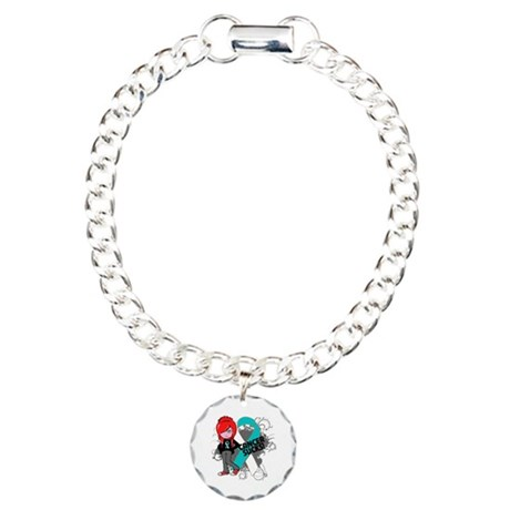 Cervical CANCER SUCKS Charm Bracelet, One Charm