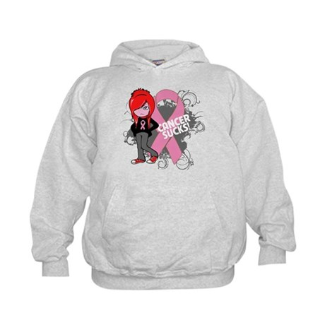 Breast CANCER SUCKS Kids Hoodie