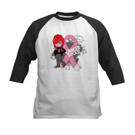 Breast CANCER SUCKS Kids Baseball Jersey