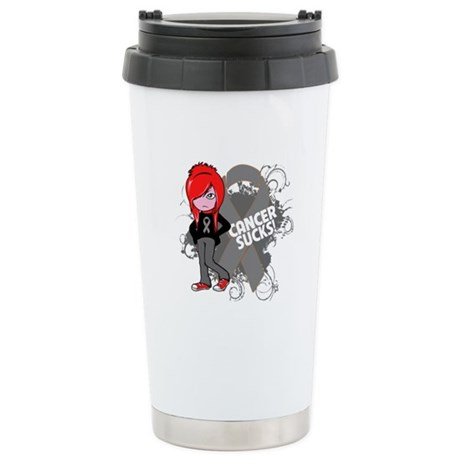 Brain CANCER SUCKS Ceramic Travel Mug