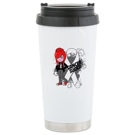 Bone CANCER SUCKS Ceramic Travel Mug