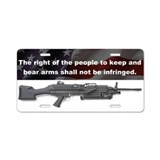 2nd Amendment - M249 SAW - Aluminum License Plate
