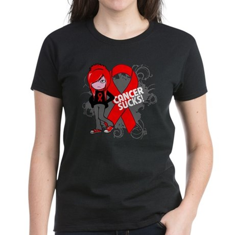 Blood CANCER SUCKS Women's Dark T-Shirt
