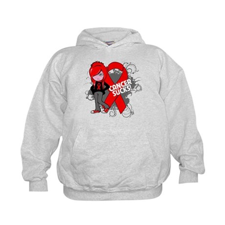 Blood CANCER SUCKS Kids Hoodie