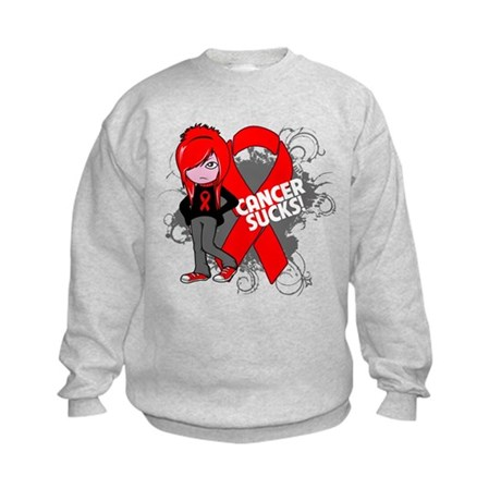 Blood CANCER SUCKS Kids Sweatshirt