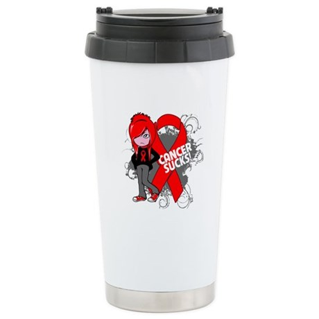 Blood CANCER SUCKS Ceramic Travel Mug