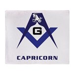 Masonic Capricorn Sign Throw Blanket