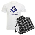Masonic Capricorn Sign Men's Light Pajamas