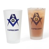 Masonic Capricorn Sign Drinking Glass