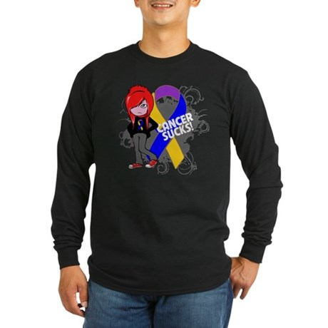 Bladder CANCER SUCKS Long Sleeve Dark T-Shirt