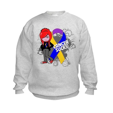 Bladder CANCER SUCKS Kids Sweatshirt