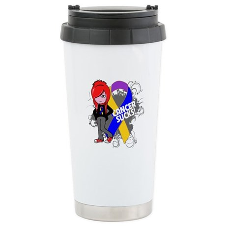 Bladder CANCER SUCKS Ceramic Travel Mug