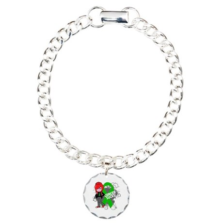 Bile Duct CANCER SUCKS Charm Bracelet, One Charm