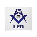 Masonic Leo Sign Throw Blanket