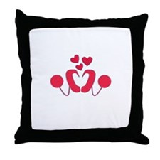 Cochlear Implant Love Throw Pillow