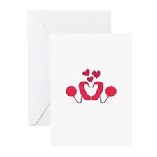 Cochlear Implant Love Greeting Cards (Pk of 20)