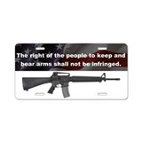 2nd Amendment - M16A4 - Aluminum License Plate
