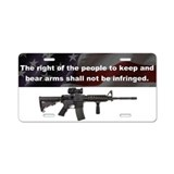 2nd Amendment - M4 - Aluminum License Plate
