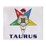 OES Taurus Sign Throw Blanket