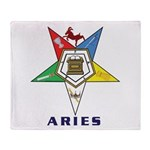OES Aries Sign Throw Blanket