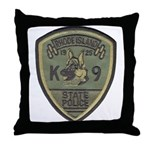 RI State Police K9 Throw Pillow