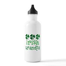 Irish Grandpa Shamrock Water Bottle