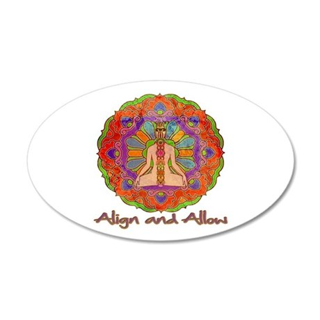 Align and Allow 35x21 Oval Wall Decal
