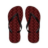 Bicycles Red Flip Flops