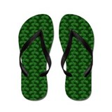 Bicycles Green Flip Flops