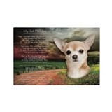 """Why God Made Dogs"" Chihuahua Rectangle Magnet"