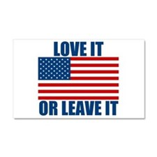 Love it or Leave it Car Magnet 20 x 12