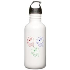 Technicolor Mini Pigs Water Bottle