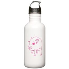 Pink Mini Pig Water Bottle
