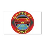 Battery Power Car Magnet 20 x 12