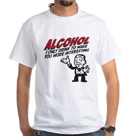 Alcohol White T-Shirt