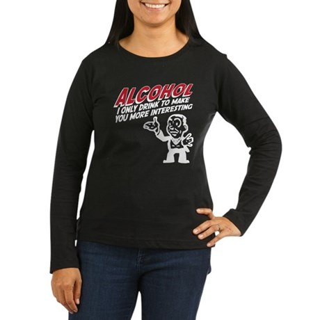 Alcohol Women's Long Sleeve Dark T-Shirt