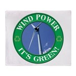 Wind Power Throw Blanket